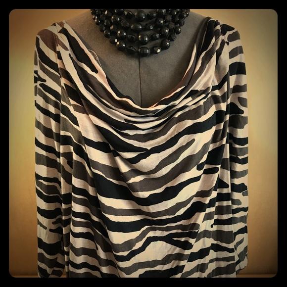 Cut Size Womens Concepts INC Zebra Plus Low Inc International Tops FwCxqPSO